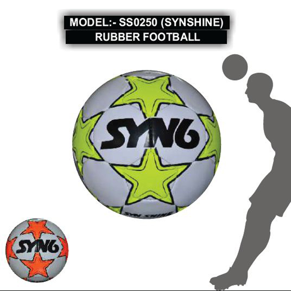 SS0250 (SYNSHINE) RUBBER FOOTBALL