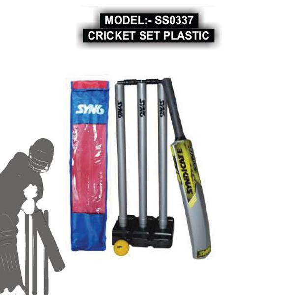 SS0337 CRICKET SET PLASTIC
