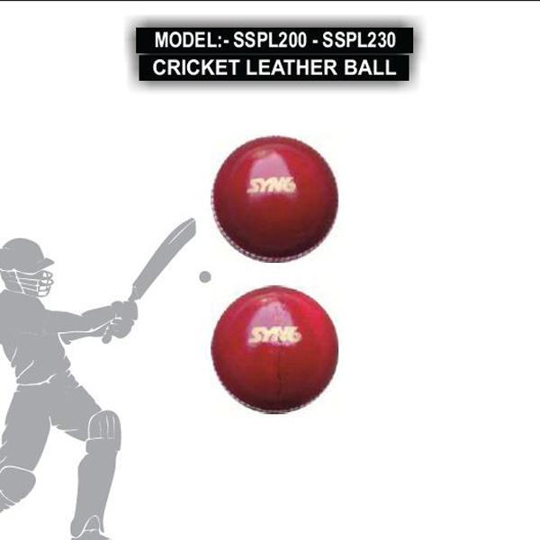 SSPL200 - SSPL230 CRICKET LEATHER BALL